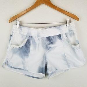 Lululemon running shorts 10 white lace mini